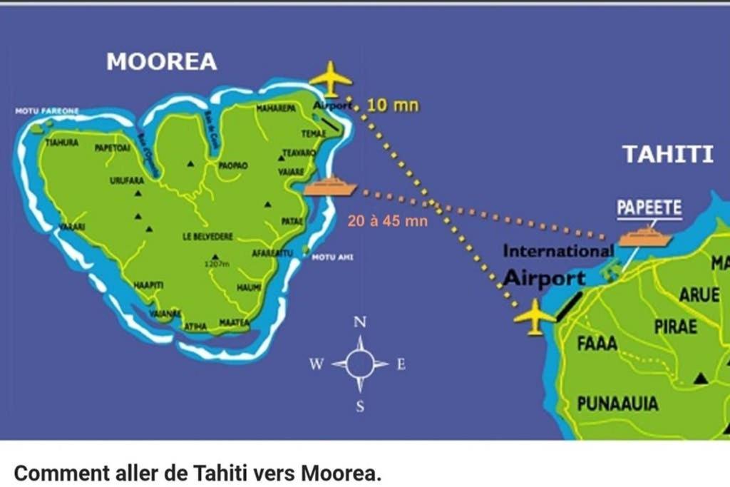 Apartman 3 Min A Pied Du Ferry Moorea Francuzska Polynezia