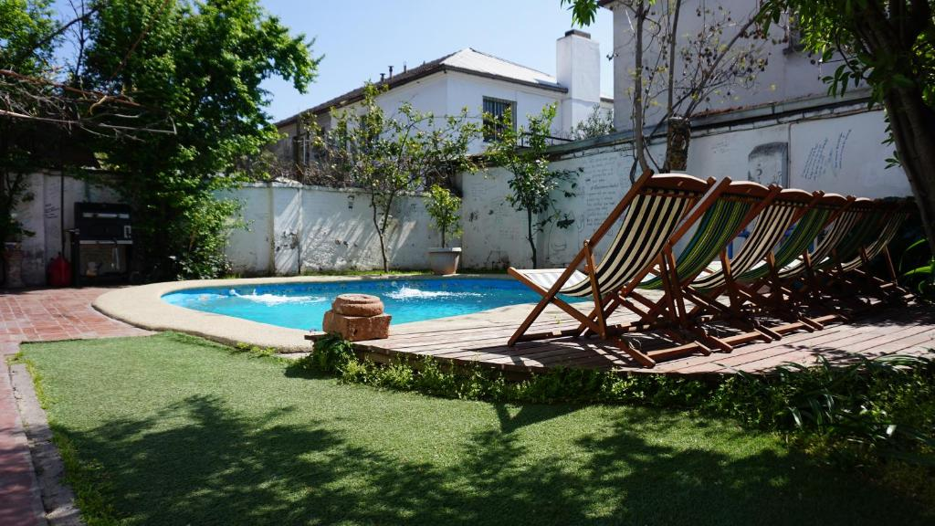 The swimming pool at or near Ventana Sur Hostal