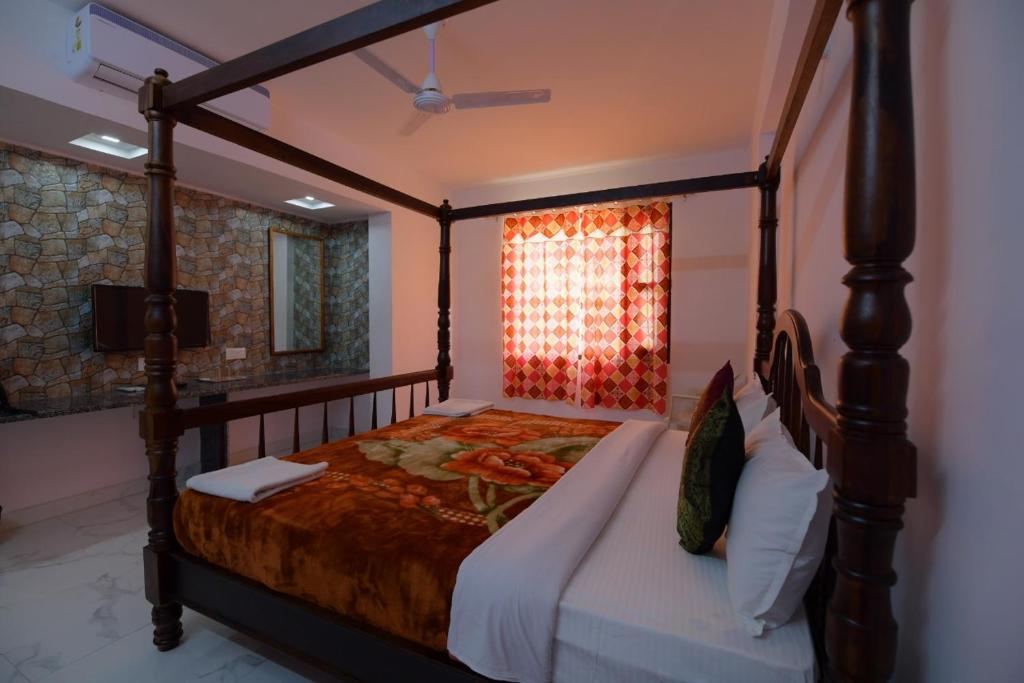 Cama o camas de una habitación en Bonfire Pushkar