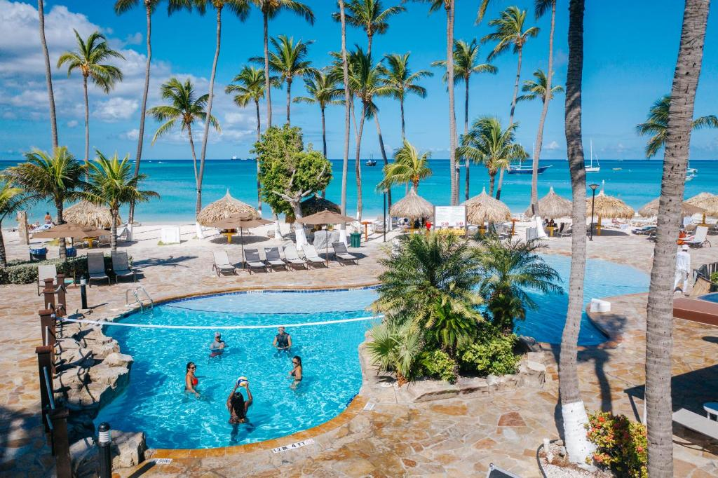 The swimming pool at or near All Inclusive Holiday Inn Resort Aruba - Beach Resort & Casino