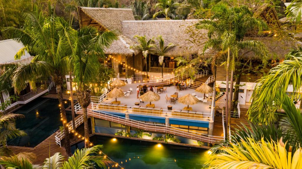 A view of the pool at Selina Nosara or nearby
