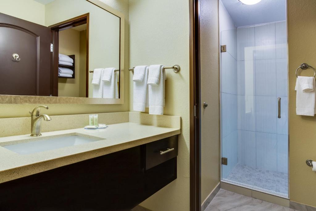 A bathroom at Staybridge Suites Atlanta Airport