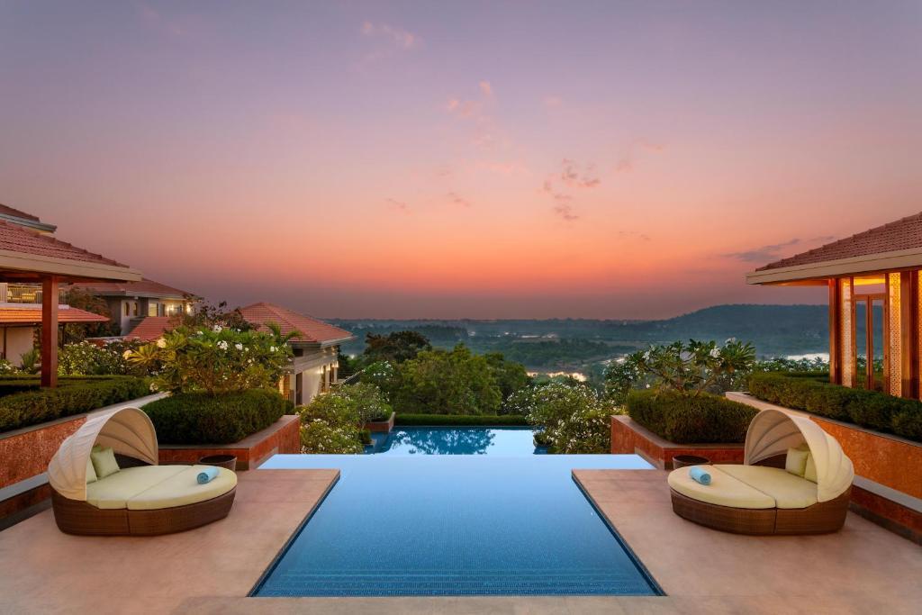 The swimming pool at or near Hilton Goa Resort