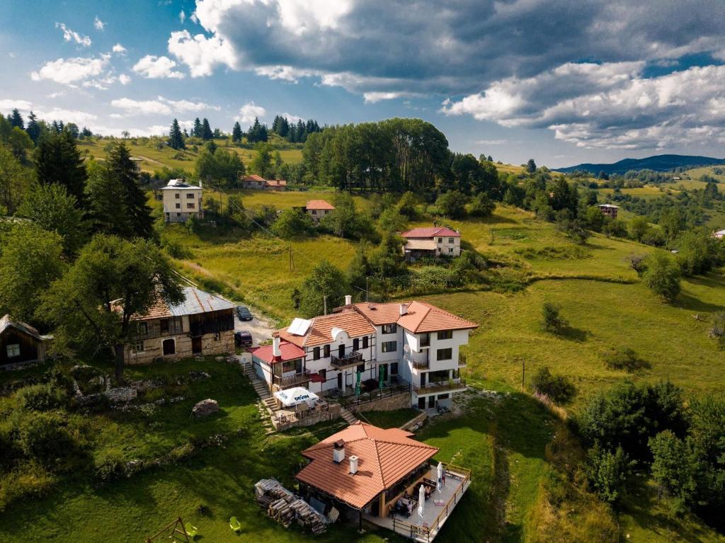 Et luftfoto af Guest House Panorama