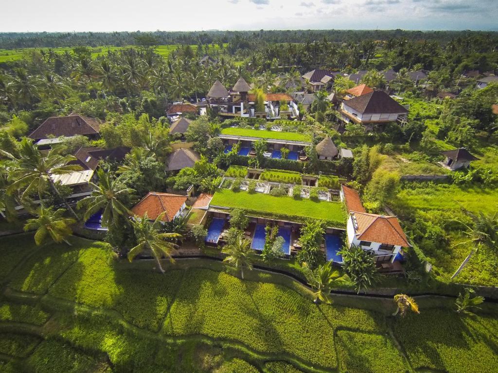 Vue panoramique sur l'établissement Ubud Green Resort Villas