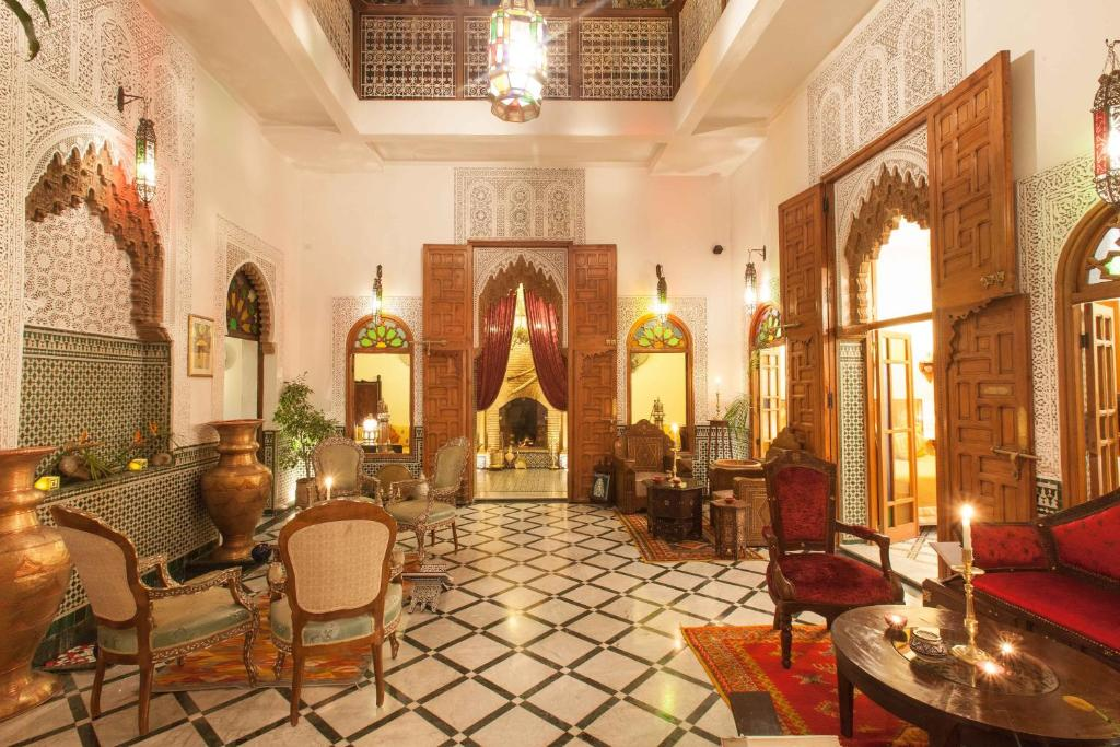 The lobby or reception area at Dar El Kébira