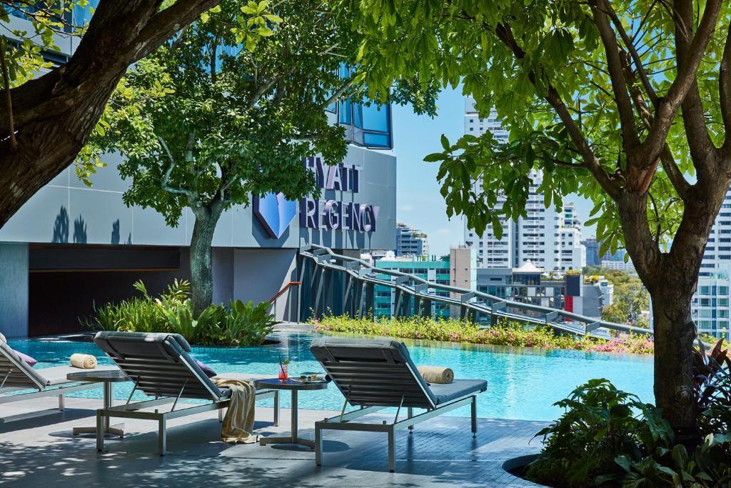 The swimming pool at or near Hyatt Regency Bangkok Sukhumvit