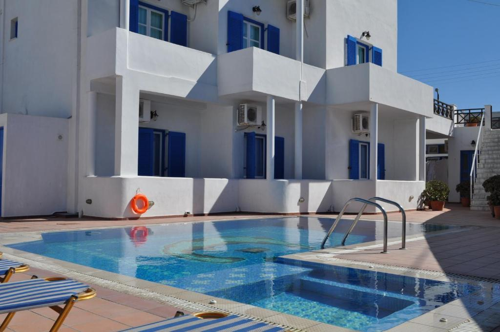 The swimming pool at or near Cyclades Hotel