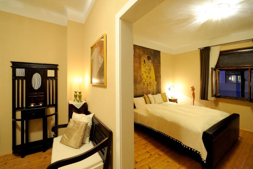 Ein Bett oder Betten in einem Zimmer der Unterkunft Gut Zentgraf