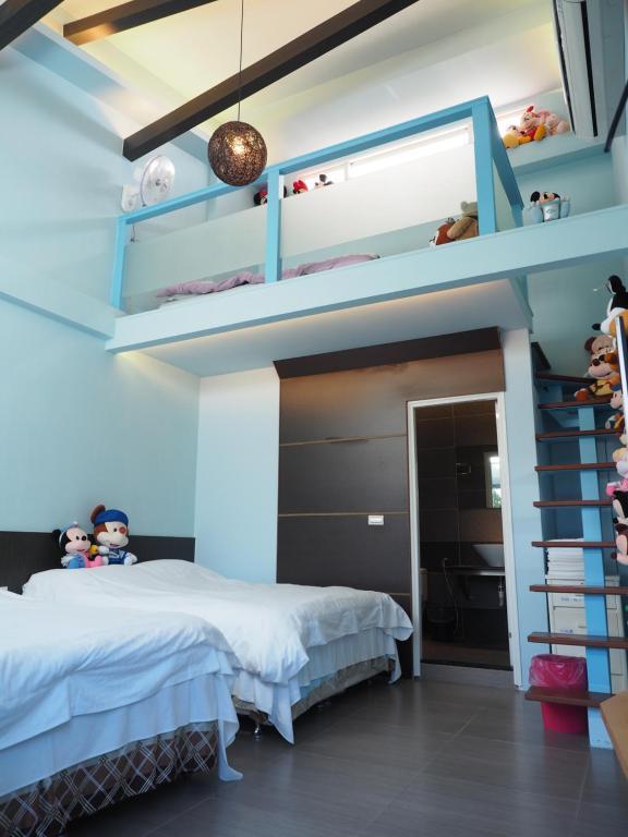小牧人民宿房間的床