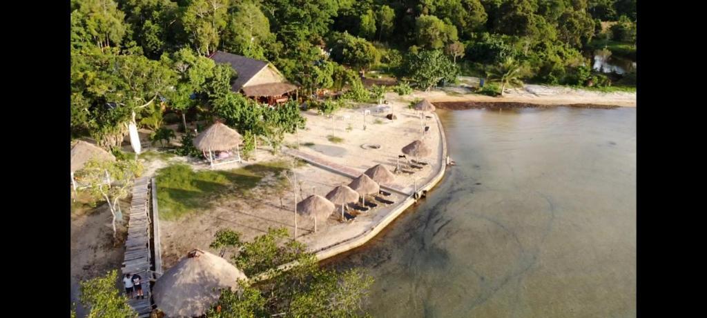 A bird's-eye view of Dolphin Bay Resort