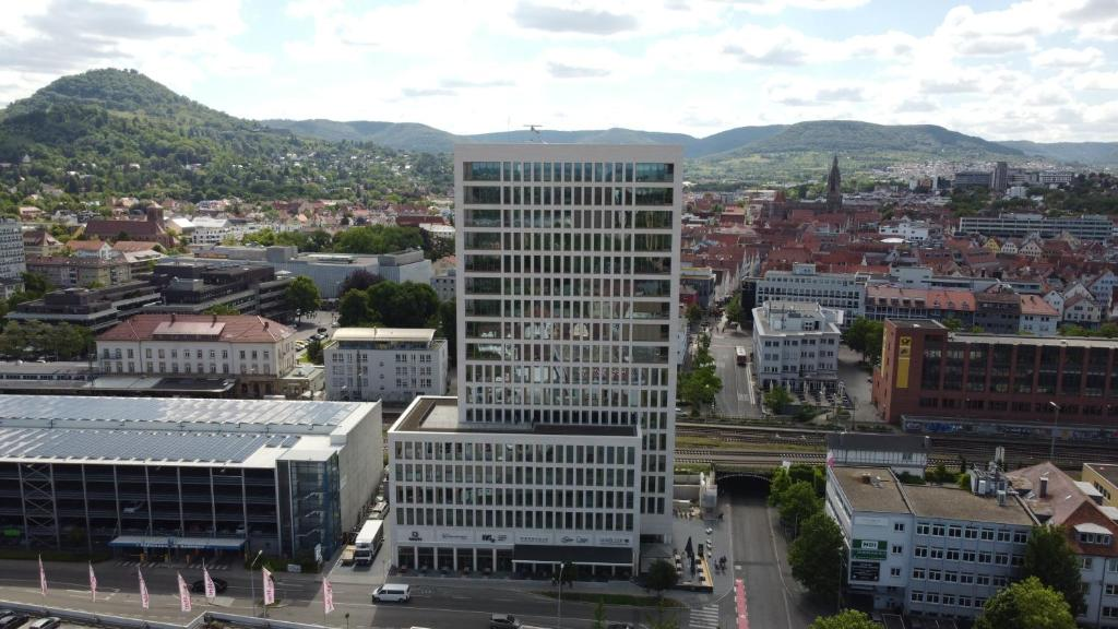 Blick auf Stuttgarter Tor - Apartments aus der Vogelperspektive