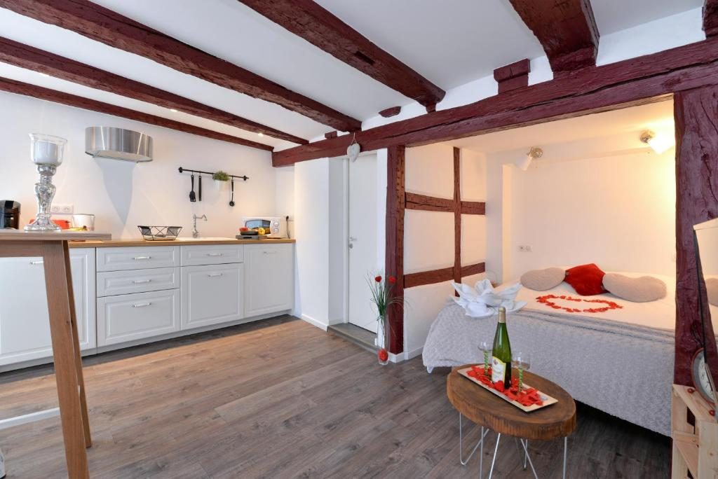 O bucătărie sau chicinetă la La stub de la Petite Venise