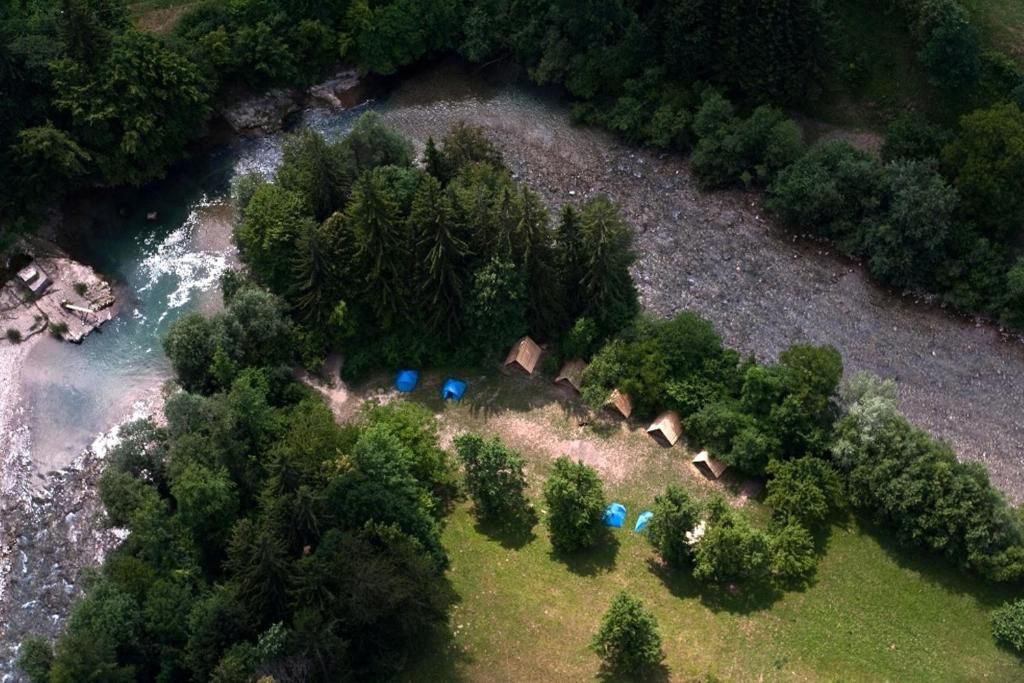 A bird's-eye view of Camp Naturplac Na Skali