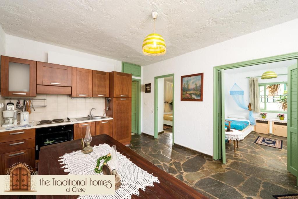 A kitchen or kitchenette at Elounda Apartments