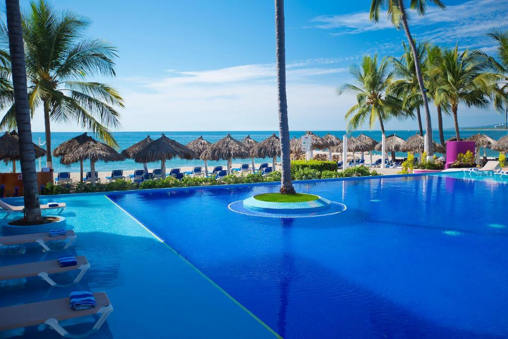 The swimming pool at or near Crown Paradise Club Puerto Vallarta