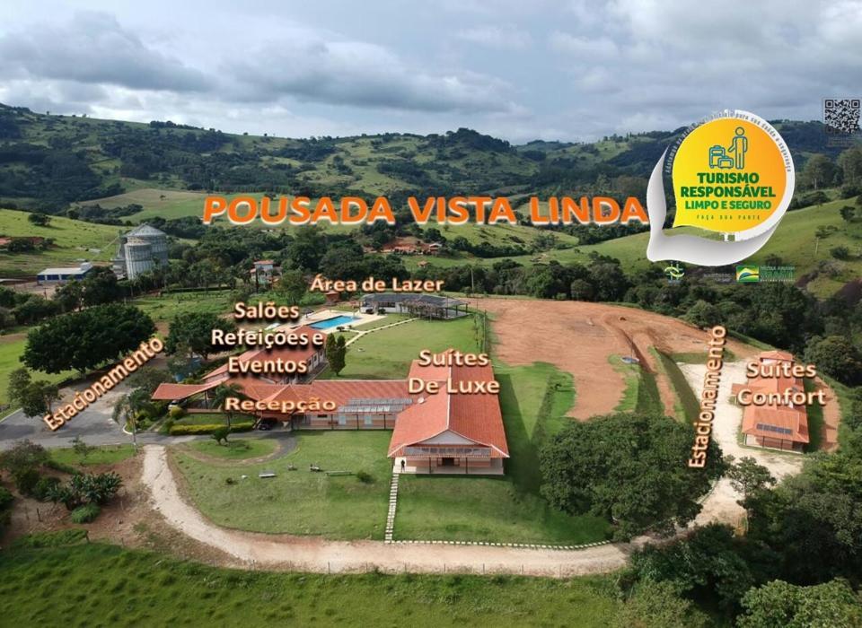 A bird's-eye view of Pousada Vista Linda