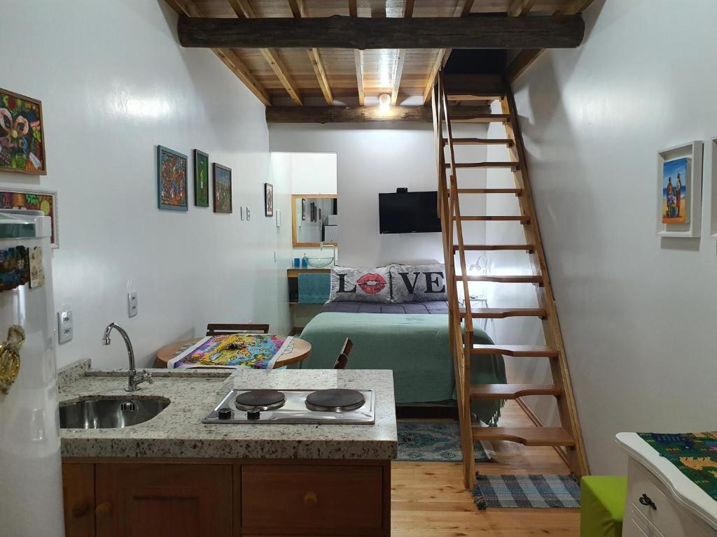 A kitchen or kitchenette at Morada Vó Rita