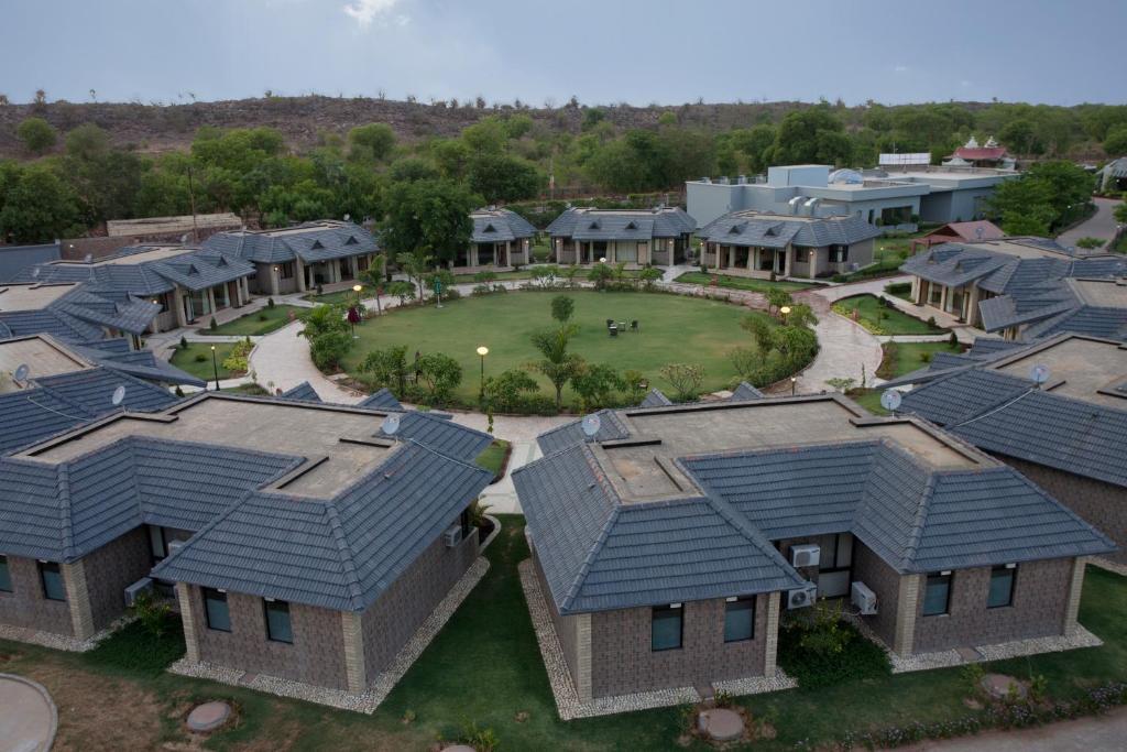 A bird's-eye view of Shri Radha Brij Vasundhara Resort & Spa
