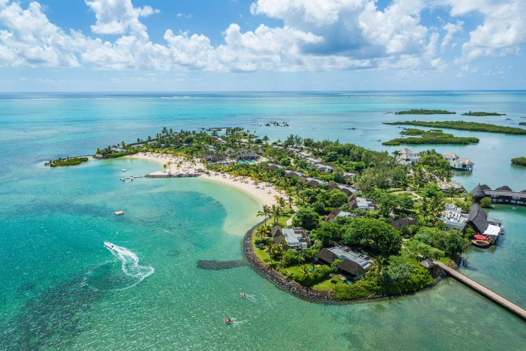 A bird's-eye view of Four Seasons Resort Mauritius at Anahita