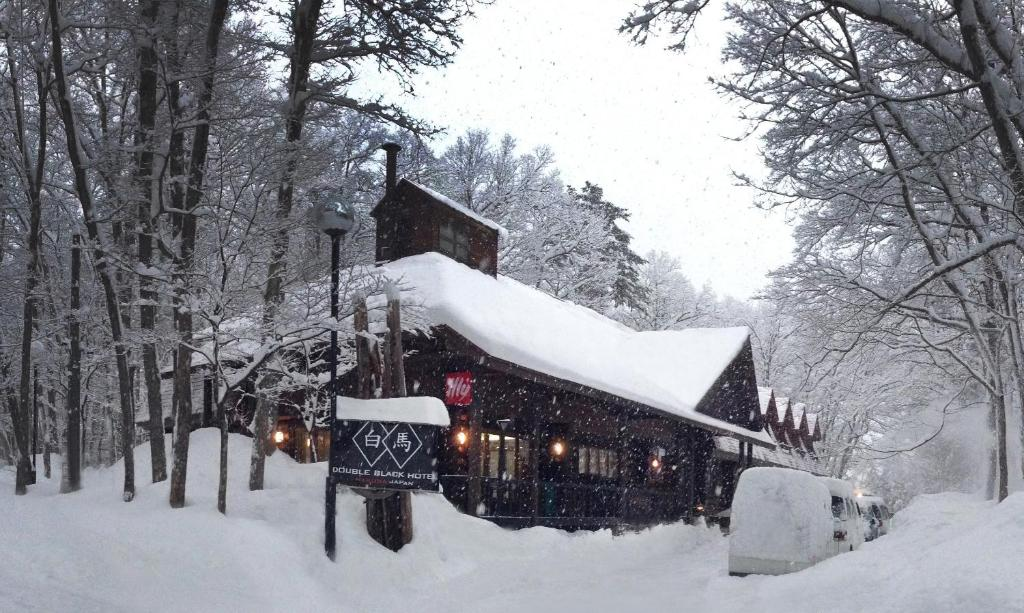 Double Black Hotel during the winter
