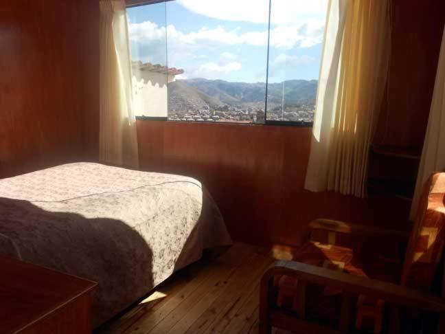 Vista general de una montaña o vista desde el albergue
