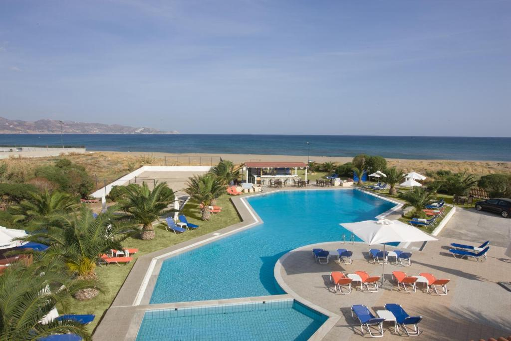 A view of the pool at Akti Corali Hotel or nearby