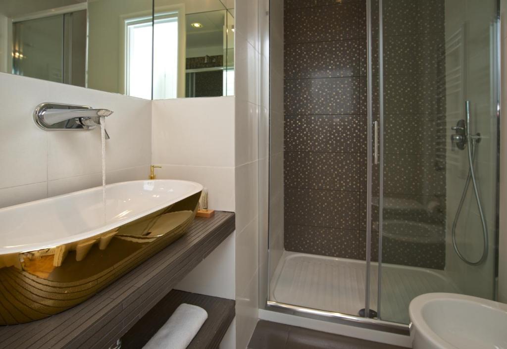 Koupelna v ubytování Vatican Charme
