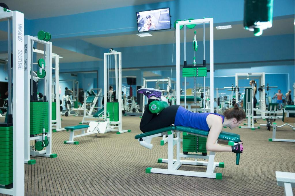 The fitness center and/or fitness facilities at Lider Hotel