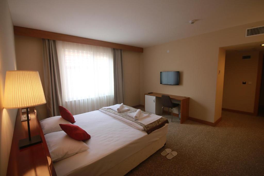 Cama o camas de una habitación en Trakya City Hotel