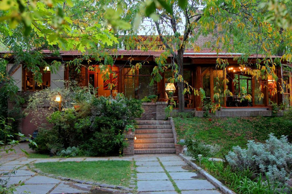Um jardim em Casa Glebinias