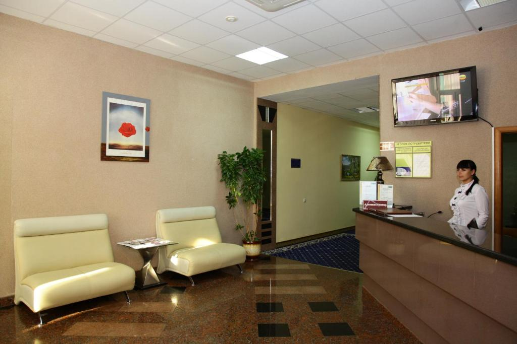 The lobby or reception area at Lider Hotel