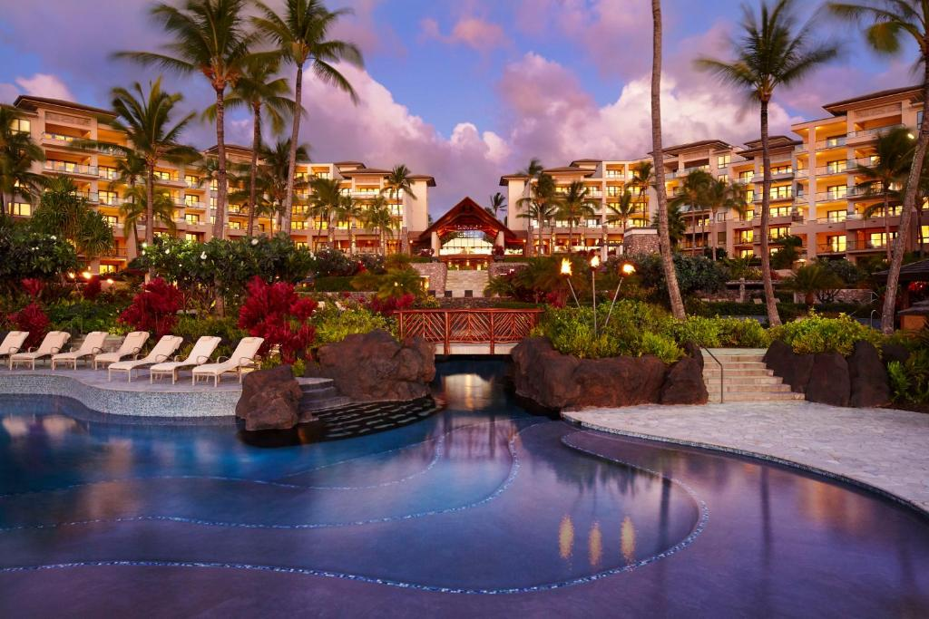 The swimming pool at or close to Montage Kapalua Bay