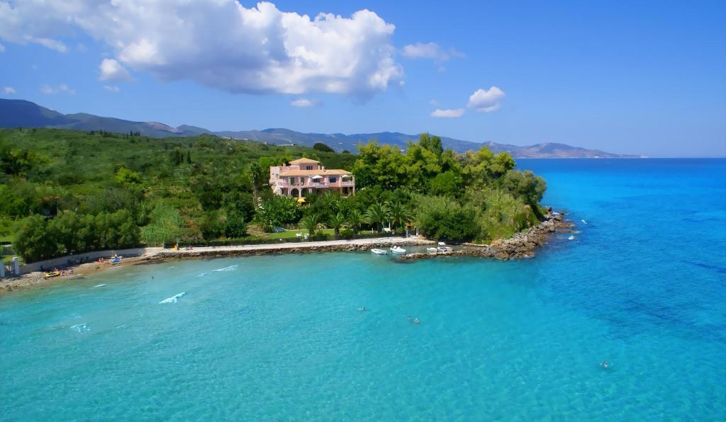 A bird's-eye view of Calypso Villas