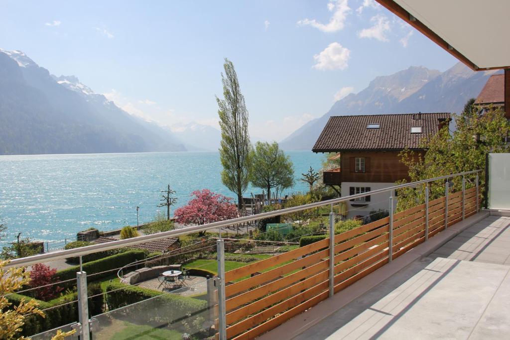 Ein Balkon oder eine Terrasse in der Unterkunft Holiday Apartment Alpenblick