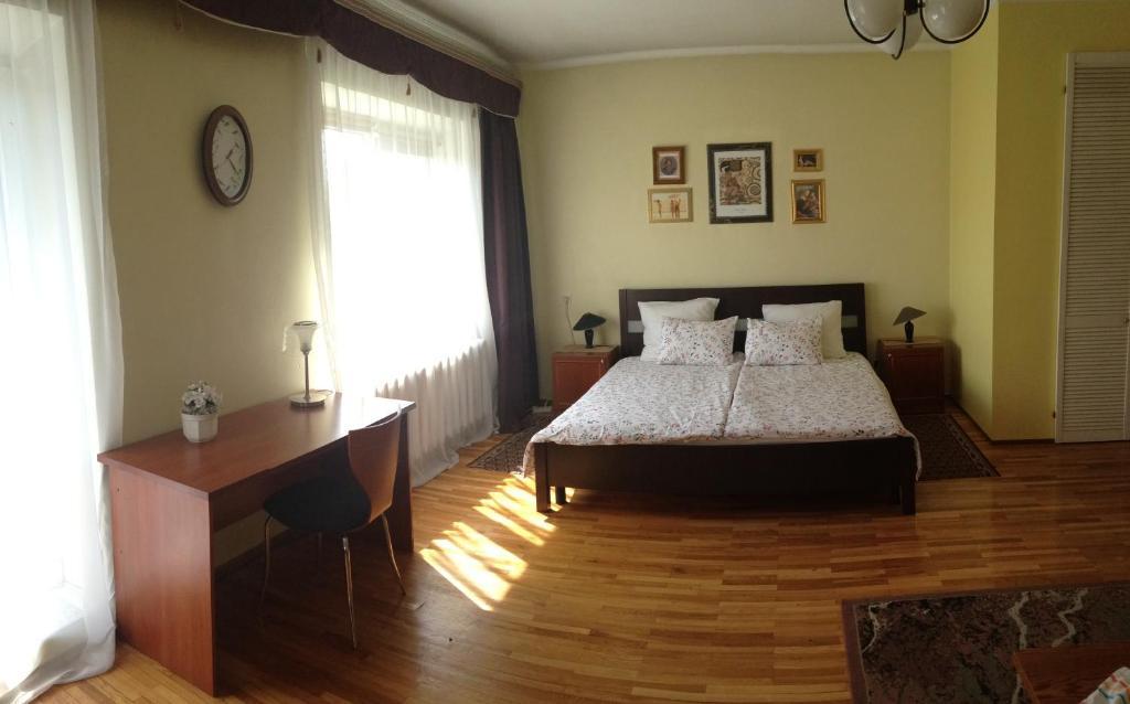Кровать или кровати в номере Villa April