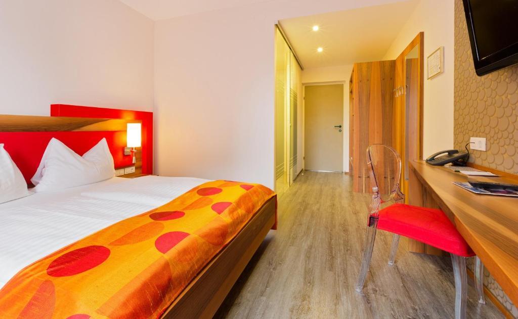 Ein Bett oder Betten in einem Zimmer der Unterkunft Motel Baden