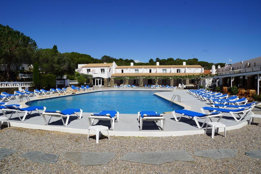 The swimming pool at or near Hotel Calina