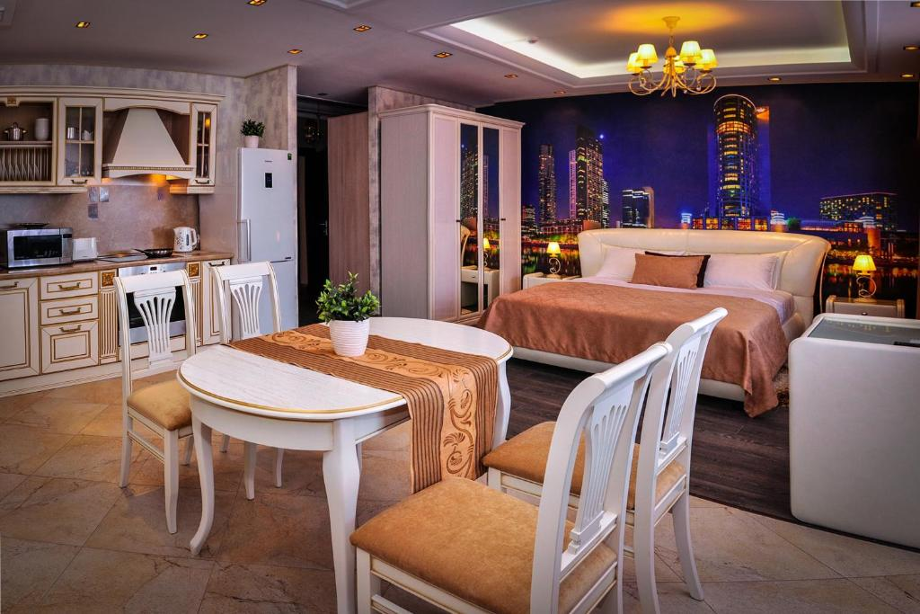A restaurant or other place to eat at Apart-Hotel Intourist