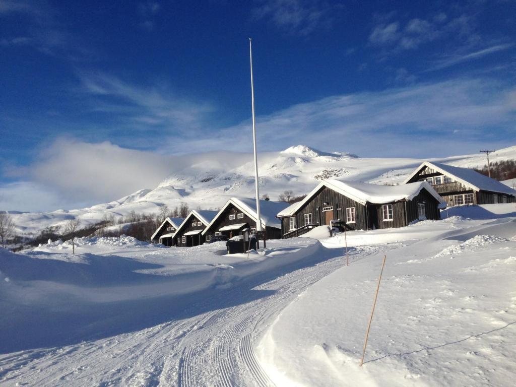 Bessheim Fjellstue og Hytter under vintern