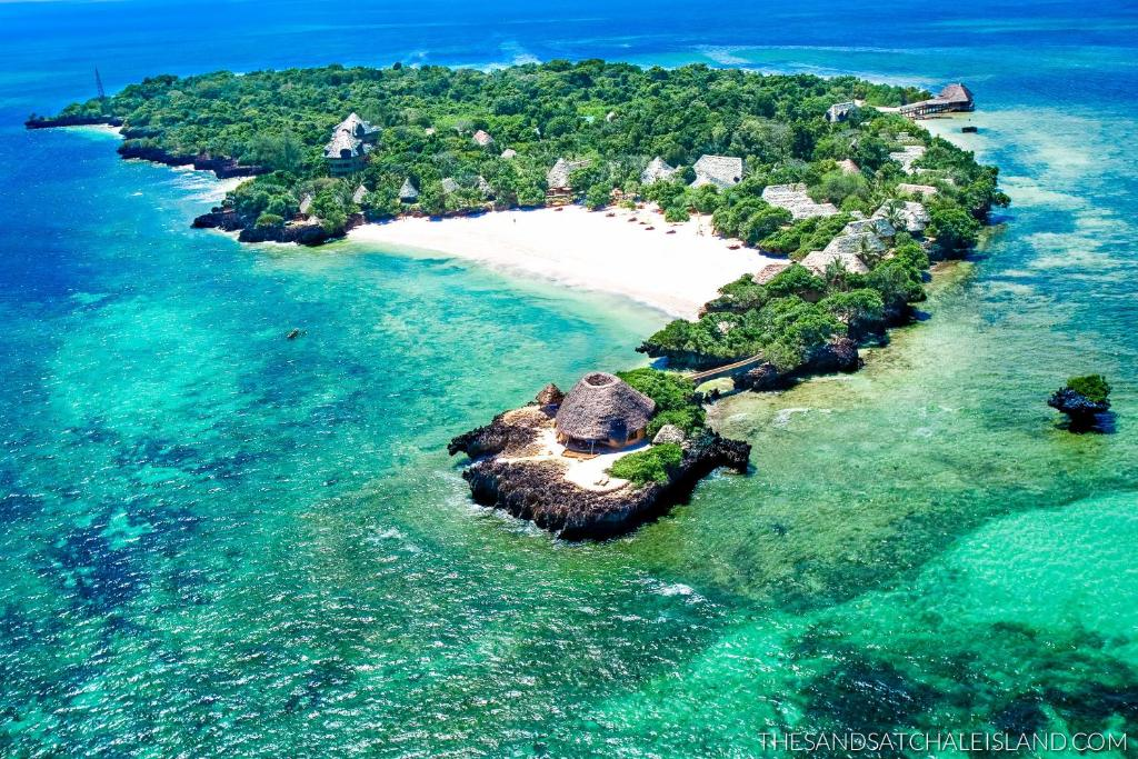 A bird's-eye view of The Sands at Chale Island