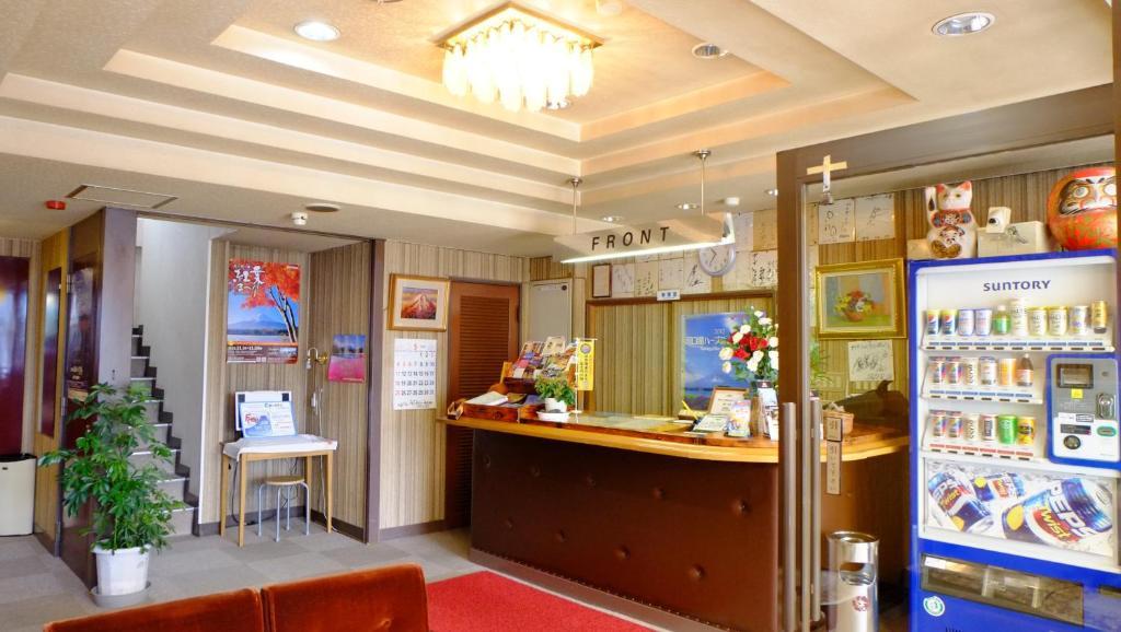 The lobby or reception area at Plaza Inn Kawaguchiko