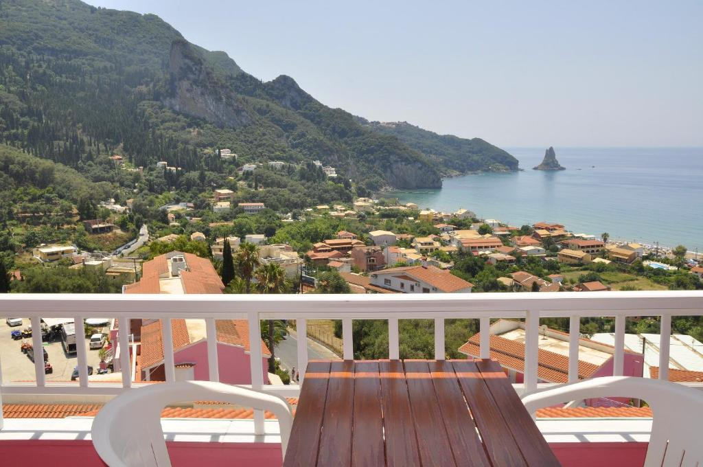 A balcony or terrace at Pink Palace Beach Resort