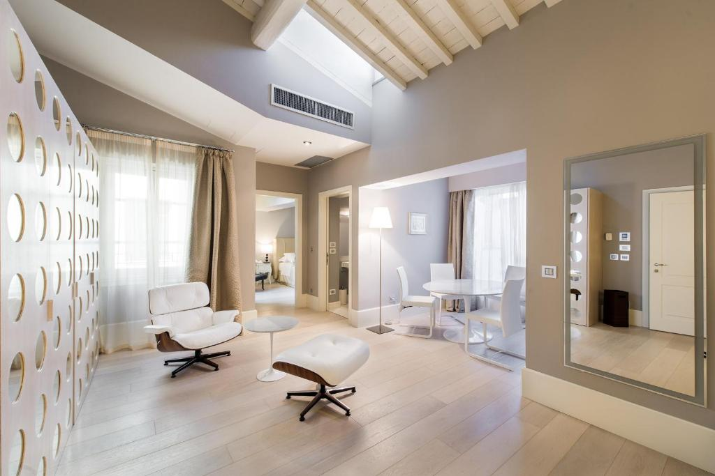 Area soggiorno di Cavalieri Palace Luxury Residences