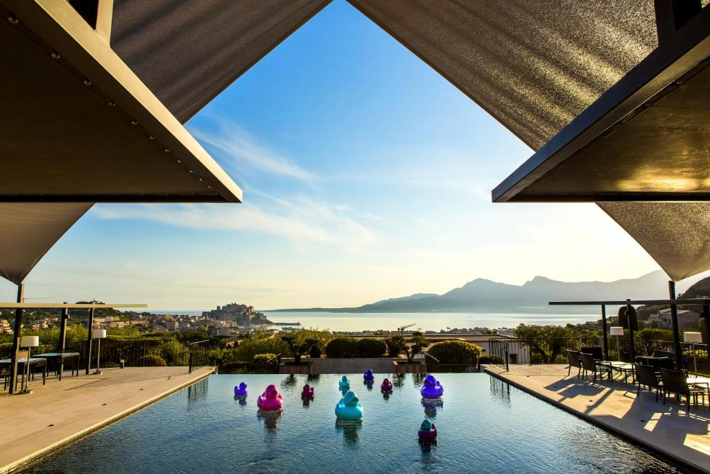 The swimming pool at or near La Villa Calvi