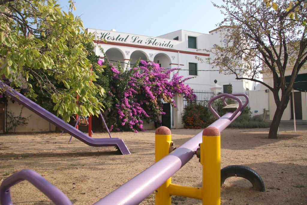 Children's play area at Hostal La Florida
