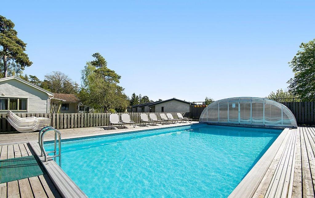 Der Swimmingpool an oder in der Nähe von Hotel Toftagården