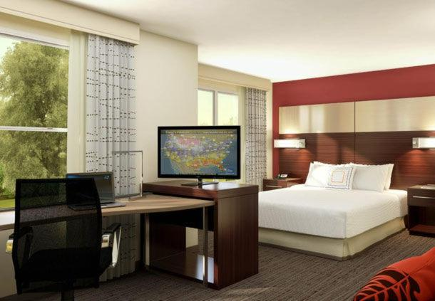 A television and/or entertainment center at Residence Inn by Marriott Akron Fairlawn