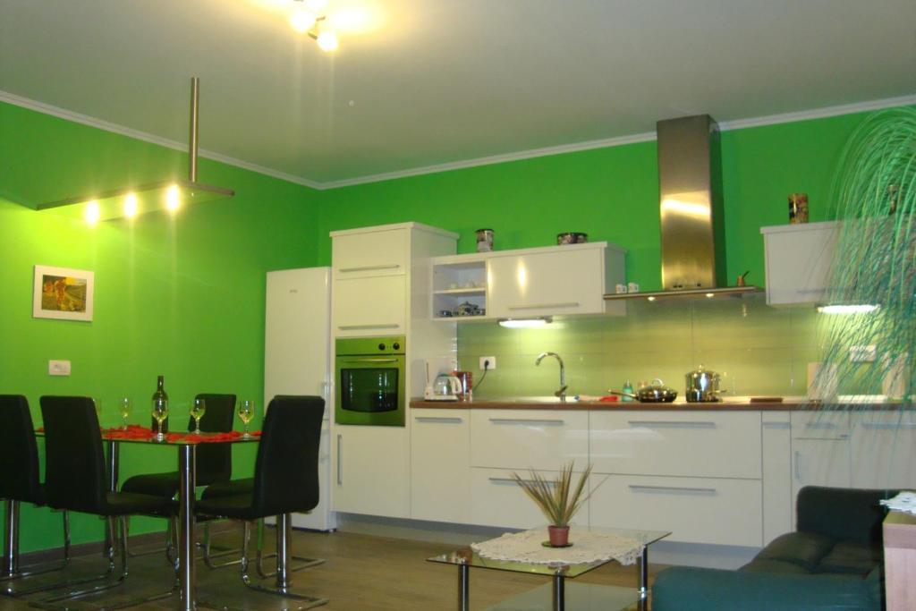 Küche/Küchenzeile in der Unterkunft Apartment Thomas