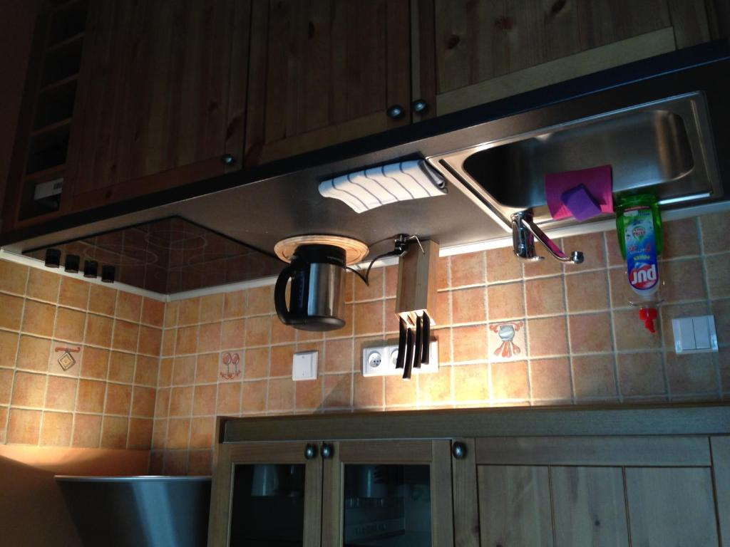 A kitchen or kitchenette at Apartmány Čertovka- APT Farao